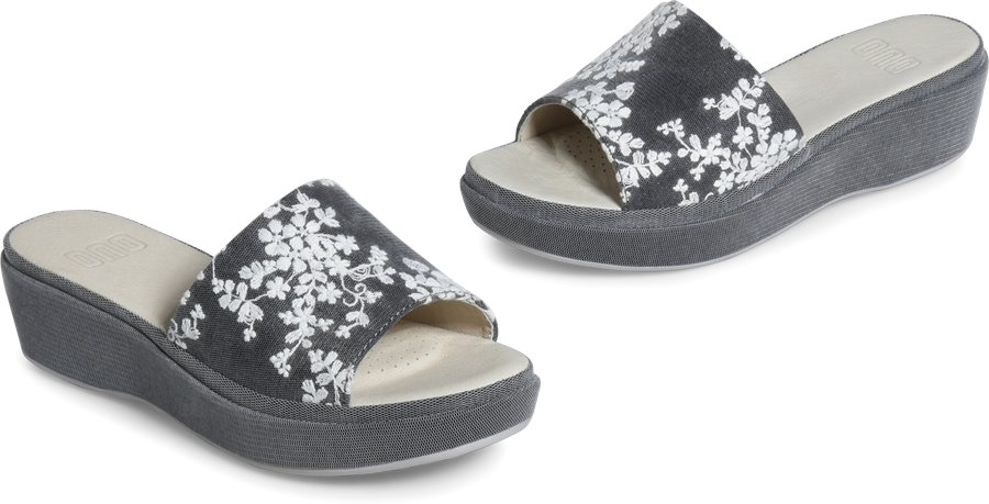f5412bdba43 ONO Dive in Black Floral Fabric - ONO Womens Sandals on Shoeline.com