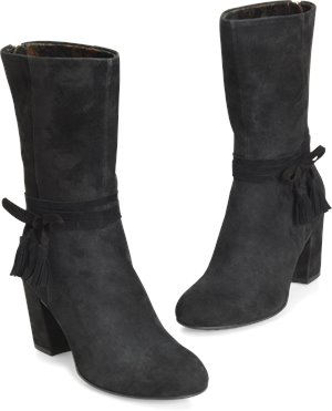 Holzer Boots in Black Suede