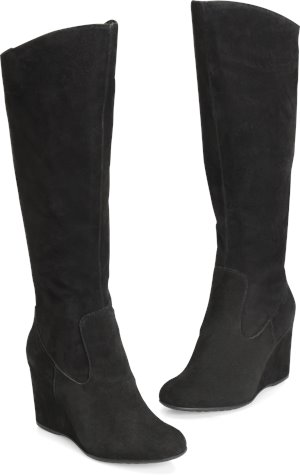 Swinton Boots in Black Suede