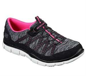Pink Black Skechers Gratis - Lets Cruise