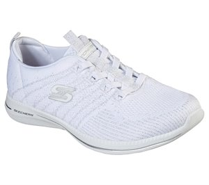 Silver White Skechers City Pro - Glow On - FINAL SALE