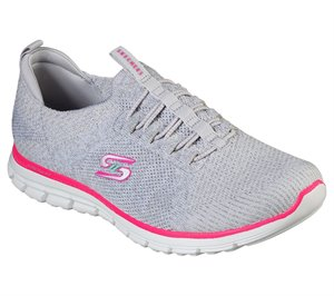 Pink Gray Skechers Luminate - She's Magnificent - FINAL SALE