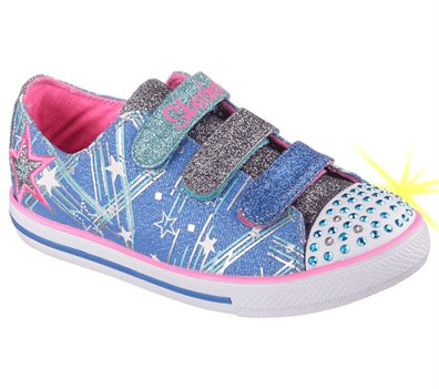 Skechers Twinkle Toes: Chit Chat Skipping Stars in Neon