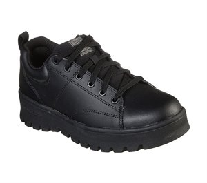 Black Skechers Work Relaxed Fit: Street Cleat SR - FINAL SALE