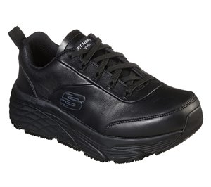 Black Skechers Work Relaxed Fit: Max Cushioning Elite SR - Kajus