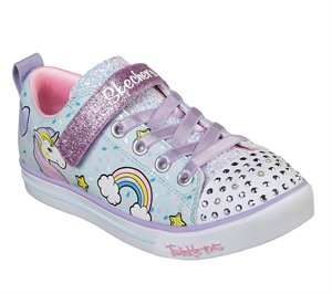 Multi Blue Skechers Twinkle Toes: Shuffles - Sparkle Lite - FINAL SALE