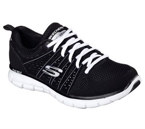 White Black Skechers Synergy - Look Book