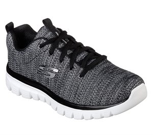 White Black Skechers Graceful - Twisted Fortune
