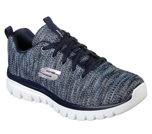 Blue Navy Skechers Graceful - Twisted Fortune