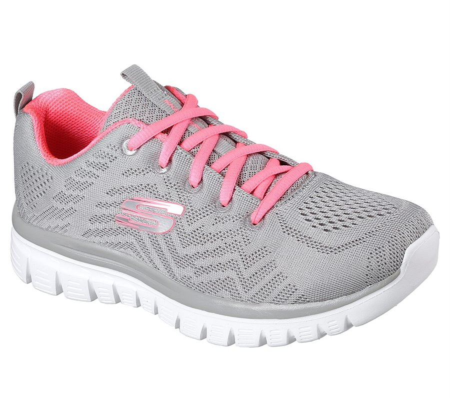 Skechers Graceful - Get Connected in Coral Gray - Skechers Womens ...