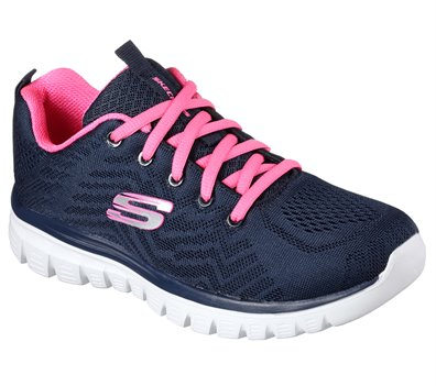 Pink Coral Skechers Graceful - Get Connected