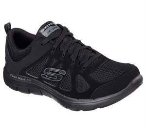 Black Skechers Flex Appeal 2.0 - Simplistic
