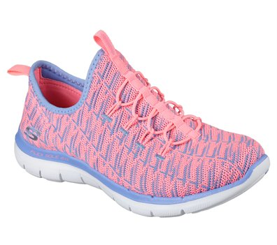 Details about Skechers Flex Appeal 2.0 Insights Trainers Womens Memory Foam Sports Knit Shoes
