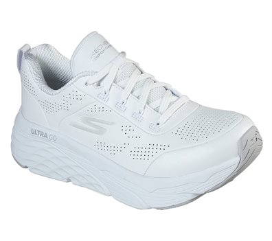 Silver White Skechers Skechers Max Cushioning Elite - Step Up