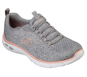 Coral Gray Skechers Relaxed Fit: Empire DLux - Lively Wind