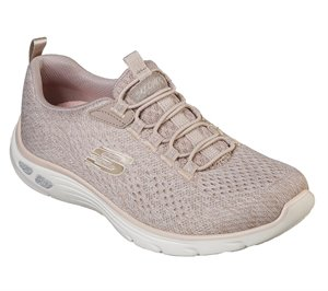 Pink Natural Skechers Relaxed Fit: Empire DLux - Lively Wind