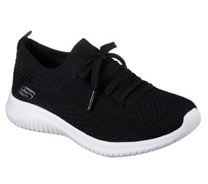 White Black Skechers Ultra Flex - Statements