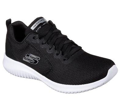 White Black Skechers Ultra Flex - Free Spirits