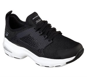 White Black Skechers D'Lites Ultra - At The Top