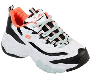 Black White Skechers D'Lites 3 - Blast Full