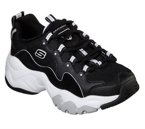 White Black Skechers DLites 3 - Zenway