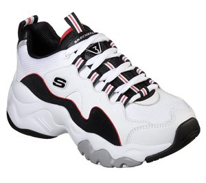 Black White Red Skechers DLites 3 - Zenway
