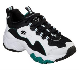 Green White Skechers D'Lites 3 - Zenway