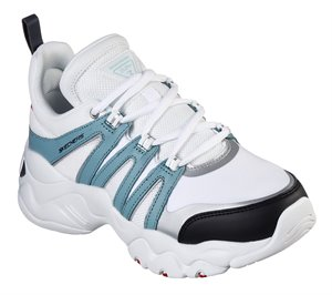 Blue White Skechers DLites 3.0 - Trendy Feels