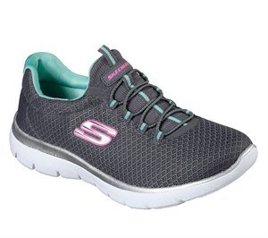 Green Gray Skechers Summits