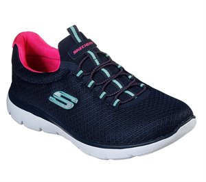 Pink Navy Skechers Summits