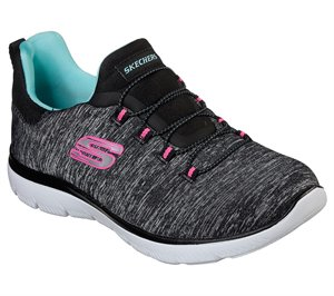 Blue Black Skechers Summits - Quick Getaway