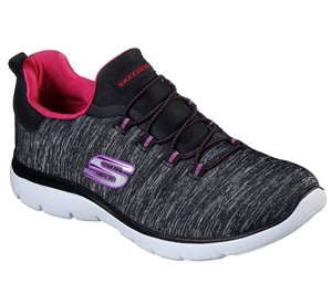 Pink Black Skechers Summits - Quick Getaway