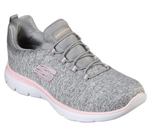 Pink Gray Skechers Summits - Quick Getaway