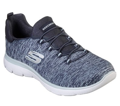 Blue Navy Skechers Summits - Quick Getaway