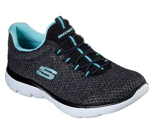 Blue Black Skechers Summits - Striding