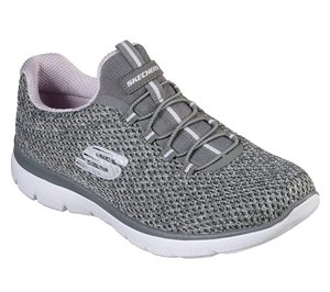 Purple Gray Skechers Summits - Striding