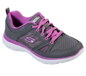 Purple Gray Skechers Summits - New World