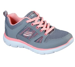 Coral Gray Skechers Summits - New World