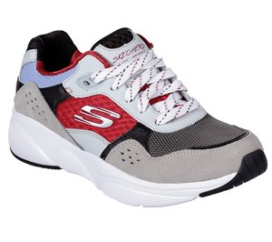 Red Gray Skechers Meridian - Charted