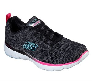 Multi Black Skechers Flex Appeal 3.0 - Reinfall