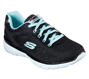 Blue Black Skechers Flex Appeal 3.0