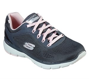 Pink Gray Skechers Flex Appeal 3.0