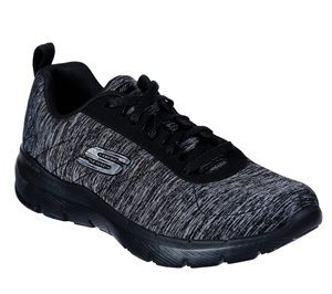 Gray Black Skechers Flex Appeal 3.0 - Insiders