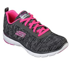 Pink Black Skechers Flex Appeal 3.0 - Insiders