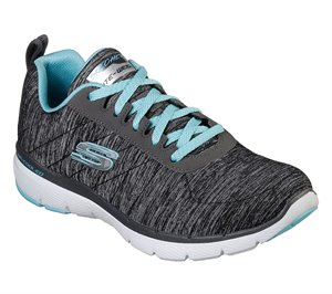 Blue Black Skechers Flex Appeal 3.0 - Insiders
