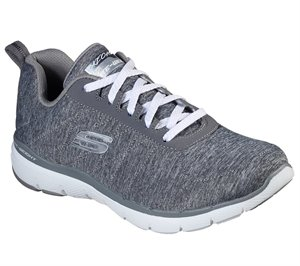 Gray Skechers Flex Appeal 3.0 - Insiders