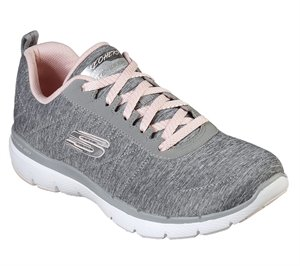 Pink Gray Skechers Flex Appeal 3.0 - Insiders