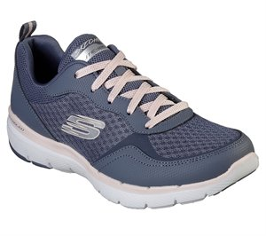 Pink Blue Skechers Flex Appeal 3.0 - Go Forward