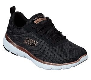 Gold Black Skechers Flex Appeal 3.0 - First Insight