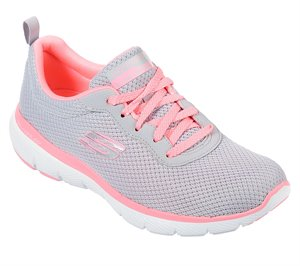 Pink Gray Skechers Flex Appeal 3.0 - First Insight